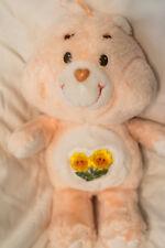 "Vintage KENNER 1983 Care Bear FRIEND peach SUNFLOWERS 80's Toy 13"" plush"