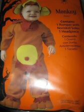 New Infant Baby MONKEY COSTUME 0-6 Months ROMPER 0-6M brown fabric outfit NIB