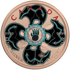 Canada 2017 5$ Maple Leaf 1 oz Bear Shield Rose Gold Coin
