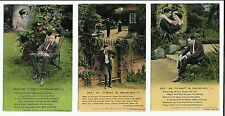 "Set of 3 Bamforth Song Cards ""Meet me Tonight in Dreamland "", unposted, 4693"