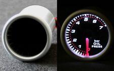 Öldruckanzeige Öl Druck Anzeige Instrument 52mm SMOKE LINE WEISS inkl. GEBER NEU