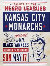 Kansas City Monarchs vs Ny Black Yankees 8X10 Photo Baseball Poster Picture