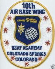 USAF WING PATCH, 10TH AIR BASE WING, USAF ACADEMY, COLORADO SPRINGS, COLORADO