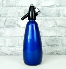 More details for vintage retro boc soda siphon blue 1960s 1970s sparklets #b