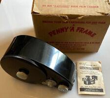 PERFECT Vintage Watson 66B Bakelite 35mm Daylight Bulk Film Loader & Instruction