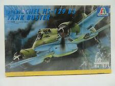 ITALERI 1:72 # 055 GERMAN  HENSCHEL HS - 129 B3 Tank Buster Modelkit OVP