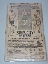 RARE ( ONE OF THE 1ST ) 1927-1929 SIMPLICITY #3036-BOYS SHORTS & SHIRT PATTERN 6