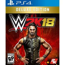WWE 2K18 DELUXE EDITION (PLAYSTATION 4) PS4 - BRAND NEW - RELEASE DAY DELIVERY!