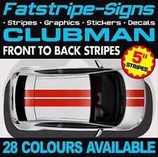 MINI CLUBMAN STRIPES GRAPHICS DECALS STICKERS TURBO R55 F54 1.6 2.0 CLUBVAN ALL4