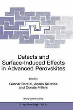 Defects and Surface-Induced Effects in Advanced Perovskites (NATO SCIENCE PARTNE