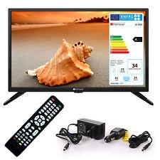 Wohnmobil Camping Fernseher LED TV 24 Zoll LCD DVB S S2 T2 C USB 12 V 230 Volt