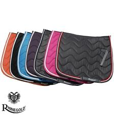 Rhinegold Elite Wave Saddlepad – Saddle Cloth – DENIM/RED – FULL – FREE P&P
