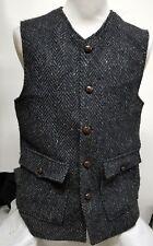 Vtg J. PETERMAN Herringbone Wool Tweed Button Vest ~ 42 (L)