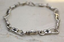 ACTS Sterling Silver Fishers Of Men Bracelet with Maltese Cross