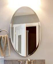 Kohros Oval Beveled Polished Frameless Wall Mirror For Bathroom Vanity Bedroom