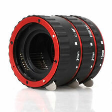 Red Auto Focus Macro Extension Tube for CANON 700D 650D 600D 1200D 1100D 60D 70D
