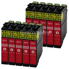 10 Druckerpatronen für EPSON T1813 XL MAGENTA XP30XP33XP302XP305XP312XP313XP322