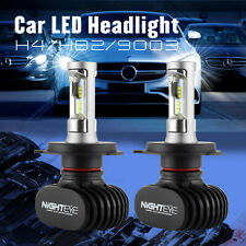Nighteye H4 9003 HB2 50W 8000LM LED Headlight Kit Hi/Lo Beam Bulbs 6500K White