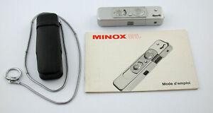 MINOX BL 8x11 chrome Sammlung collection miniature Germany Spy TOP near mint