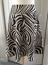 Christopher Banks Brown Zebra Skirt size 10 NWT