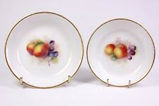 Antique Pair of Royal Worcester Miniature Fruit Dishes Circa 1926
