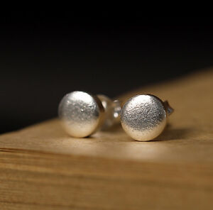 K02 Studs Circle From Sterling Silver 925