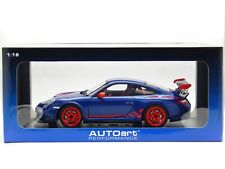 1:18 Scale Porsche 911 GT3 RS 3.8 997.2 Blue 2010 AUTOart Diecast Model 78144