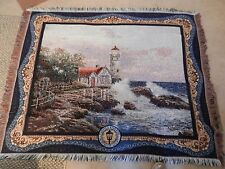 "Thomas Kinkade Painter of Light Tapestry Blanket, Throw Rug 49"" x 61"" (M)"