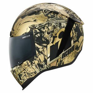 Icon Motorsports Airform Guardian Motorcycle Full Face Helmet - Gold