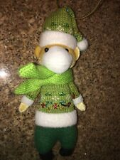 """Target Plush Ugly / Cute ? Monkey With Hat &  Scarf Christmas Ornament 7.5"""""""