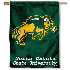 North Dakota State Bison Ndsu University College House Flag