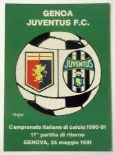 Cartolina Campionato Calcio 90-91 Genoa-Juventus