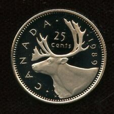 1989 Canada 25 cents Proof Quarter from Mint Set UHCameo
