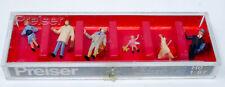 Preiser #10029  HO Scale Pedestrians 6 Figure Set Boxed