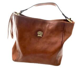 Pratesi Firenze Italian leather shoulder bag New