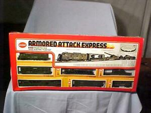 Vintage COX ARMORED ATTACK EXPRESS HO SCALE ELECTRIC TRAIN SET NOS FS 1970s