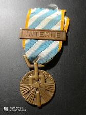 D18/0) Belle médaille française des internés guerre 39/45 WW2 French medal