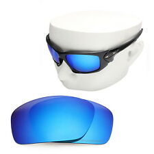 OOWLIT Replacement Sunglass Lenses for-Oakley Scalpel POLARIZED - Blue Mirror