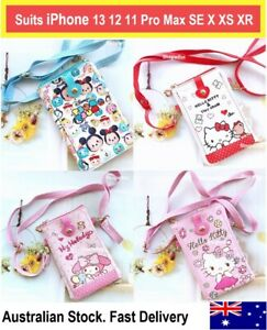 Disney Tsum Tsum crossbody phone case bag wallet iPhone 13 12 11 Pro Max SE X XR