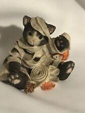 New ListingCalico Kittens Mummy Mischief Autumn Fall Halloween Rare Vintage Enesco