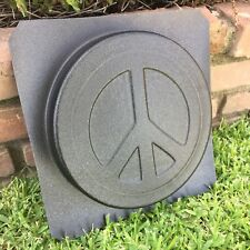 Peace Sign Symbol Stepping Stone Paver Stone Plastic Mold Concrete Cement