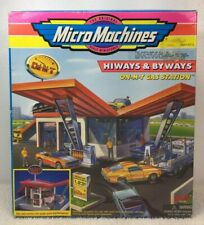 Micro Machines Galoob 65326 HIWAYS & BIWAYS On-M-T Gas Station In Box 1997