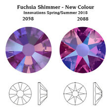 Genuine SWAROVSKI 2058 & 2088 Flat Backs No Hotfix Crystals * NEW Shimmer Effect