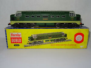 """HORNBY DUBLO 3234 DELTIC DIESEL-ELECTRIC """"ST. PADDY"""" LOCO BOXED 3-RAIL EXCELLENT"""