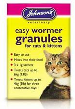 Johnsons jvp facile Rond VERMIFUGE Granules CHATS Chatons over 12 semaines de