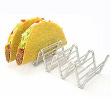 Wave Shape Stainless Steel Taco Holders Mexican Food Rack 4-5 Hard Shells Hot
