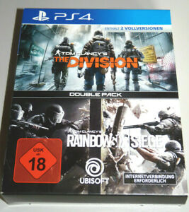 RAINBOW SIX: SIEGE + THE DIVISION PlayStation 4 PS4 DEUTSCH Double Pack 2 Spiele