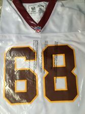 """Russ Grimm White #68 Redskins Reebok """"Vintage"""" Jersey Size 54 NEW With Tags"""