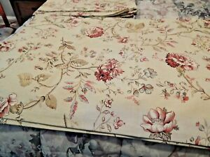 Country Curtains Shabby Chic Floral Curtains 84x50 Tan Red NWOT