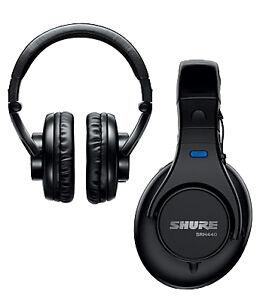 Shure SRH 440 Over the Ear Studio Monitoring Headphones - Black